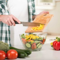 Save time by pre-cutting and pre-washing veggies